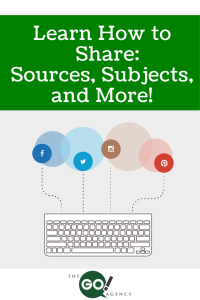 Learn How to Share: Sources, Subjects, and More