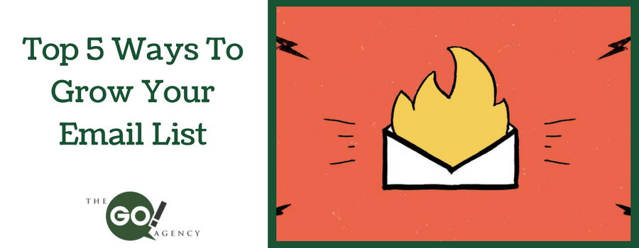 Top 5 Ways To Grow Your Email List