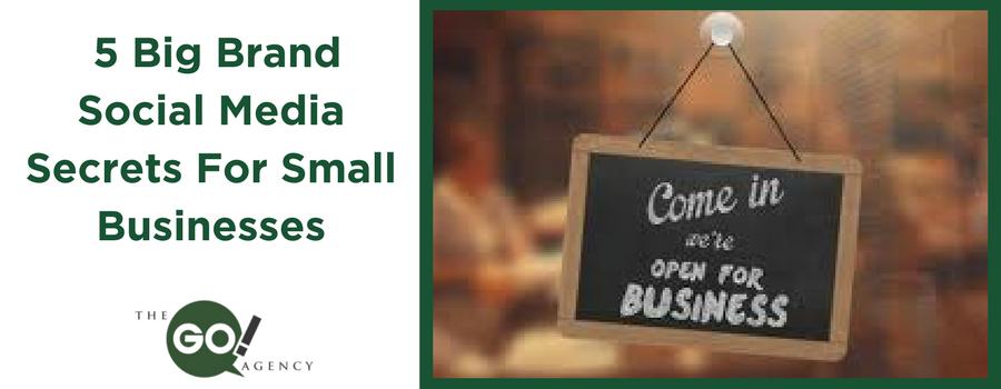 5 Big Brand Social Media Secrets For Small Businesses